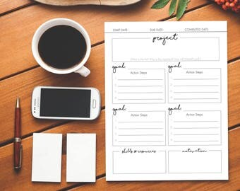 Project Planner Printable