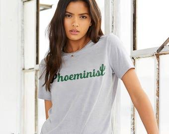 PHOEMINIST : Adult's Crew Neck T-Shirt