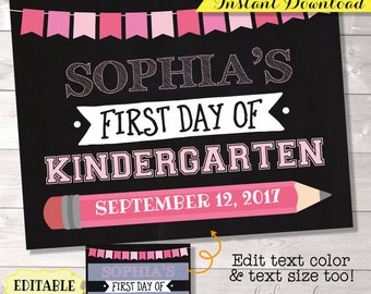 First Day of School Sign, Reusable First Day Sign, EDITABLE First Day of School Printable, First Day of School Photo Prop, First Day Sign