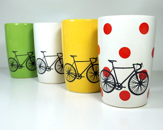 Featured listing image: Tour de France. NEW. An Expertly Crafted & Fabulous Set of (4) 18oz Tumblers. Made to Order.
