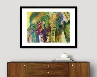 elephant print elephant art animal art wild animals african animal cute elephants elephant decor elephant home - Elephant Home Decor