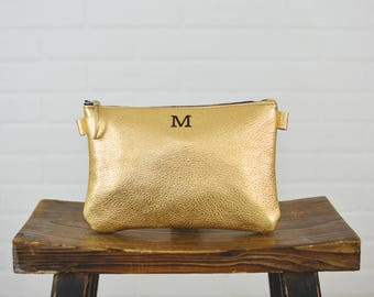 Gold Personalized Girl Boss Lady Leather Bag Bank bag  Wife Sister Bridesmaids Wedding Bridal Colleague Business Cash Bag Rise and Slay
