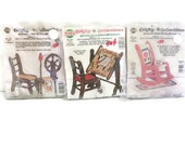 Miniature Furniture Kits with Counted Cross Stitch | Pre Cut Wood Kits With Cross Stitch Embellishment