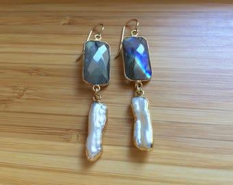 Opua Pearl and Gemstone Earrings