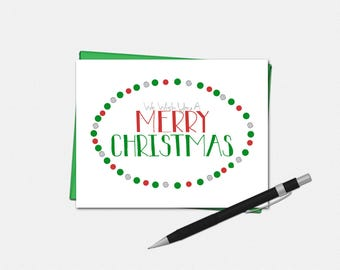 We Wish You A Merry Christmas Card - Christmas Card - Xmas Card - Merry Christmas Card