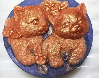 Cat  Soap, Kitty Soap, Kitten Soap, Cat Lover Gift, Glycerin Soap, Per Sitter Gift, Vegan Soap, Handmade Soap, Kittens, Ready to Ship