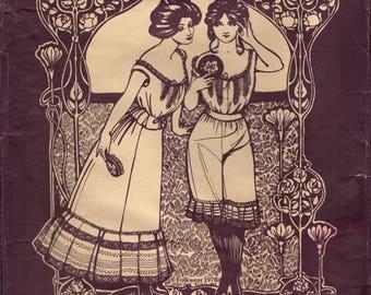 Folkwear 203 EDWARDIAN UNDERTHINGS Camisole Drawers Petticoat