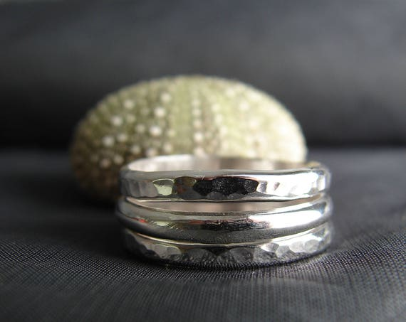 Elements sterling silver stacking rings