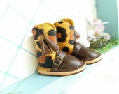 Mini Leopard Cheetah Print Dark Chocolate Brown Leather Boots Fit Neo Blythe Doll And Azone Pure Neemo Size M S Body