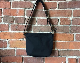 After Midnight Crossbody Bag - Zipper Closure Purse - Adjustable strap - solid cast brass hatdware