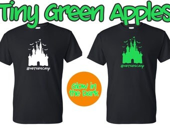 personalized disney castle halloween inspired shirt notsoscary not so scary halloween party family - Scary Halloween Shirts