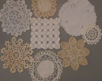 Eight Mini Doilies for Sewing/ Crafting - Sewing/ Crafting Supplies