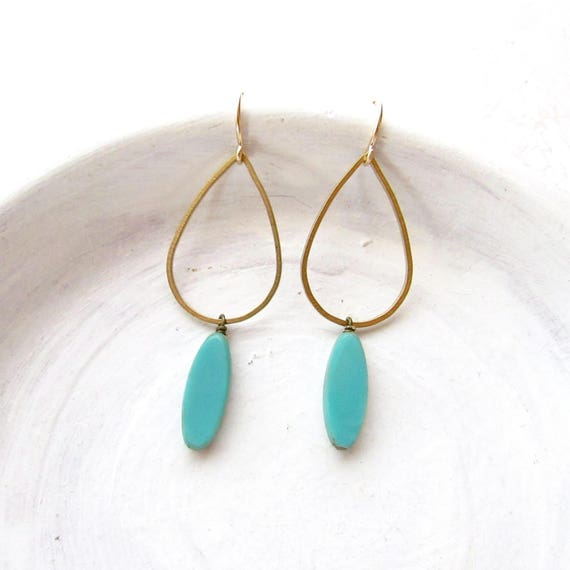 Bridesmaid Earrings > Balance Earrings > Turquoise