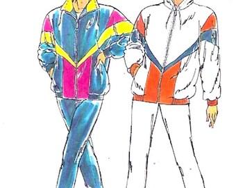 Womens Track Suit 90s vintage sewing pattern Retro athletics Exercise jogging suit Kwik Sew 2181 Sz XS to XL UNCUT