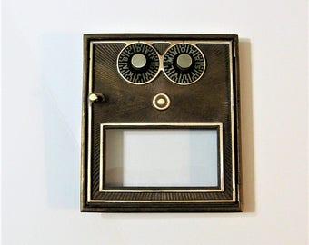 Post Office Box 1950's Door Dual Dial Combination Lock