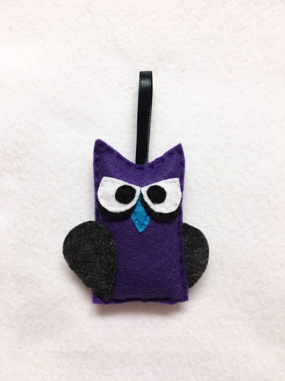 Owl Halloween Ornament, Undead Owl, Brianovich the Undead Owl, Vampire Felt Animal