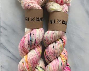 CONFETTI - hand dyed by Hellcandy superwash merino DK