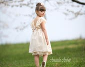 RESERVED for MAGAN custom WHITE color swiss dot and lace flower girl dress 11/25 wedding / 2 Dresses / 1 Romper / 2 Bloomers