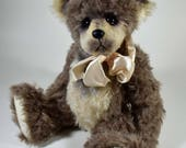 Mallory - Teddy Bear, Handmade, Artist Bear, Stuffed Animal, OOAK, Made In Alaska