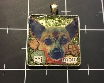 Chi Mom Chihuahua Pendant, 50% goes to the current selected animal charity