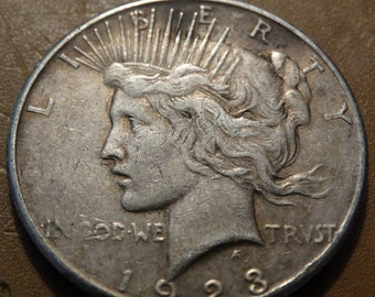 1923 Peace Silver Dollar (S) Coin antique coins for Jewelry Jeweler Numismatic Coinage Retro Americana Coinage 1920's Lot #33
