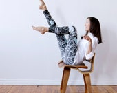 Gray Leggings, Cara Carmina, Yoga wear, Yoga Leggings, Yoga girl, leggings women, Women Activewear, Illustrated leggings, fun leggings,
