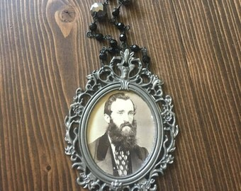 My Vintage Boyfriend William Photograph Portrait Frame Photography Beard Pendant Victorian