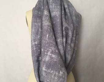 Nuno Felted Infinity Scarf Grey Gray Hand Dyed - Clouds - Made to Order