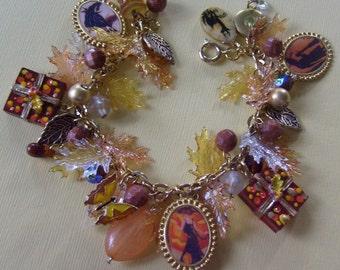 EcLeCtic Halloween Silhouettes Charm Bracelet