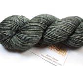 Charcoal--hand dyed sock yarn, merino and nylon, (463yds/100gm)