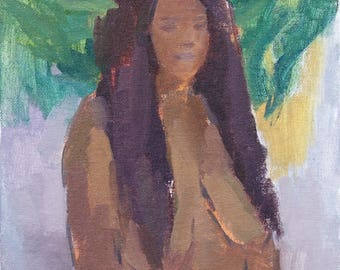 nude figure fine art print, portrait painting, figure painting, figurative art, contemporary art, contemporary painting by Michelle Farro
