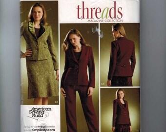 Womens Sewing Pattern Simplicity 3962 Misses Suit Jacket Skirt Pants Plus Size 20W-28W  Bust 42 44 46 50 UNCUT