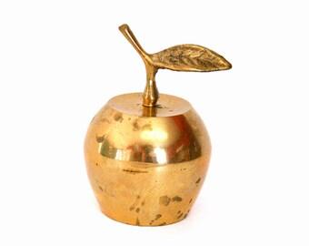 Vintage Brass Apple Bell