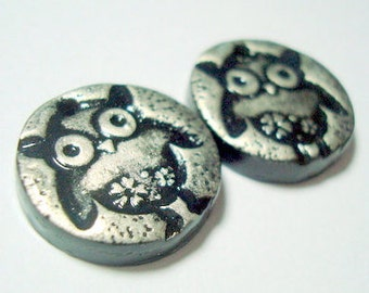 Baby Owls Polymer Clay Beads