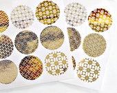 Gold Wedding Seals {18} Gold Foil Seals | Gold Foil Stickers | Japanese Print | Gold Envelope Seals | Gold on Clear Stickers | Wedding Seals