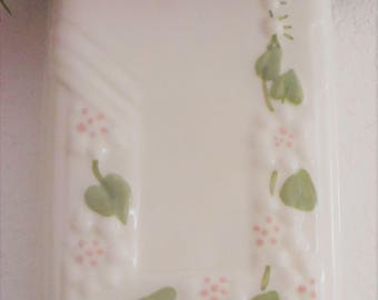 Vintage Ceramic Art Deco Wall Pocket Vase