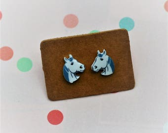 Horse Earrings, Teeny Tiny Earrings, Animal Jewelry, Cute Earrings