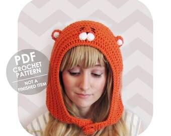 crochet pattern - The Original himouto umaru chan anime inspired hamster hood - halloween costume cosplay