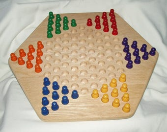 Chinese Checkers For Six Wooden Board Game (CUSTOM ONLY)