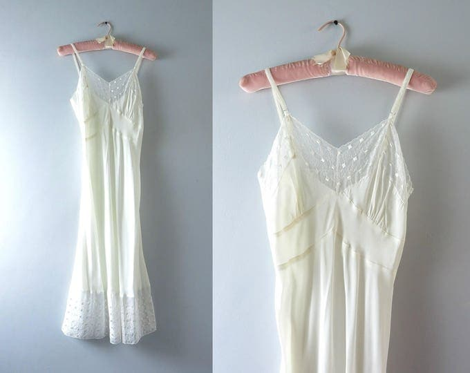 1940s Miss New Yorker Ivory Bridal Slip Size XS Deadstock
