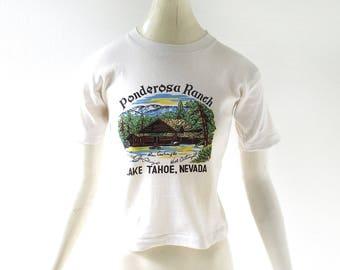 Vintage Bonanza T-Shirt | Ponderosa Ranch | 1970s T Shirt | XXS XS