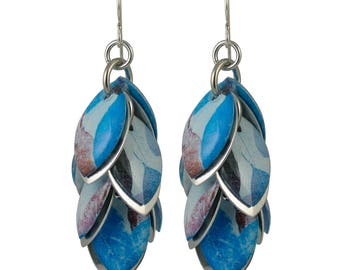 Autumn Blue Petals to the Metal Earrings