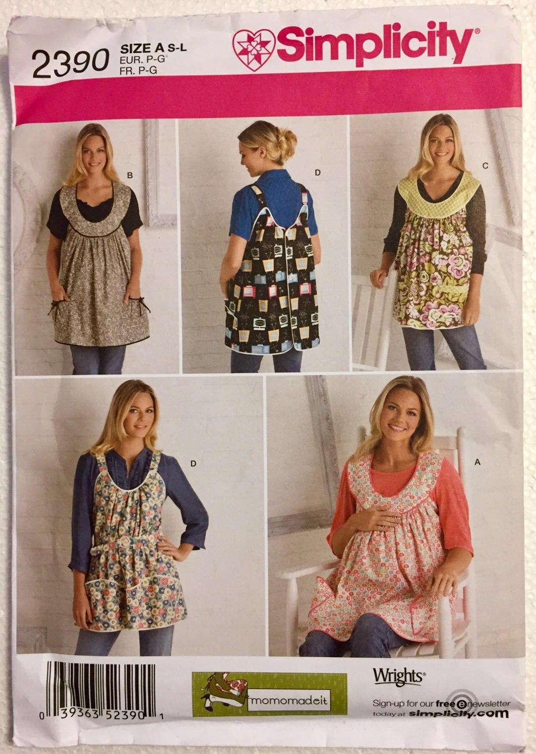 Maternity aprons sewing pattern 4 apron styles plus size 10 20 maternity aprons sewing pattern 4 apron styles plus size 10 20 simplicity 2390 jeuxipadfo Choice Image