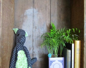 Wolf Pup Stuffie in Greens