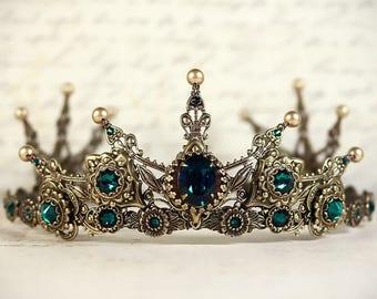 Renaissance Tiara, Medieval Tiara, Medieval Crown, Custom Wedding Tiara, Bridal Headpiece, Renaissance Wedding, Tudor, Avalon