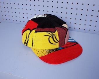 Handmade LOONEY TUNES Vintage Terrycloth Snapback Dad Hat