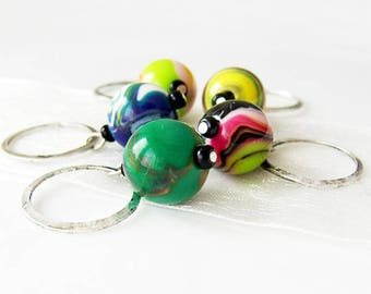 NEW - The Big Lebowski - Five Handmade Stitch Markers - 9.0mm (13 US) - Limited Edition