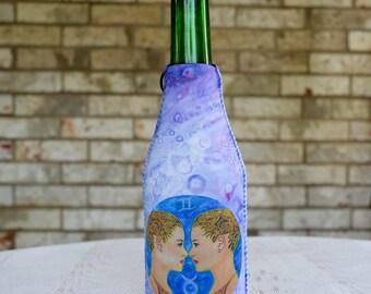 Gemini Beverage Insulator - Bottle Insulator - Drink Insulator - Bottle Hugger - Bottle Holder - Water Bottle Cover - Zippered Bottle Cover