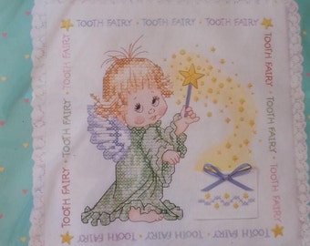 Tooth Fairy Pillow Cross Stitch Kit Baby Hugs 13039 Precious Keepsakes from Sunset  Tooth Fairy Pillow Stamped Cross Stitch Ruth J Moreheads