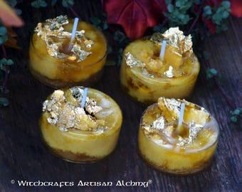 Gold Flake Candle Etsy